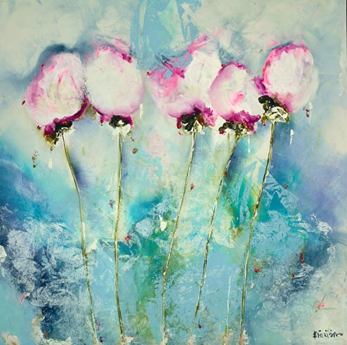 Delicate by Emilija Pasagic - Original Painting on Box Canvas